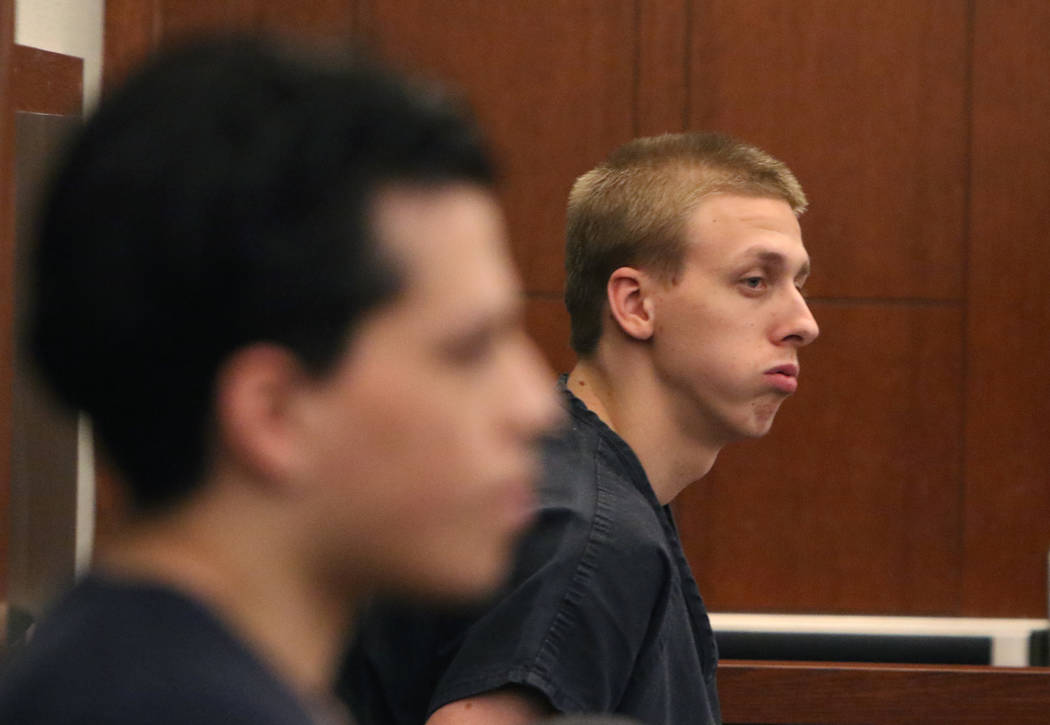 Jaiden Caruso, left, and Kody Harlan, convicted in the June 2018 slaying of Matthew Minkler, 17 ...