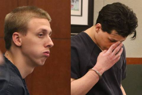 Kody Harlan, left, and Jaiden Caruso, convicted in the June 2018 slaying of Matthew Minkler, 17 ...