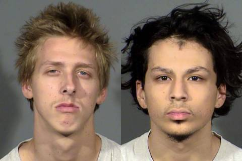 Kody Harlan, left, and Jaiden Caruso (Henderson Police Department)