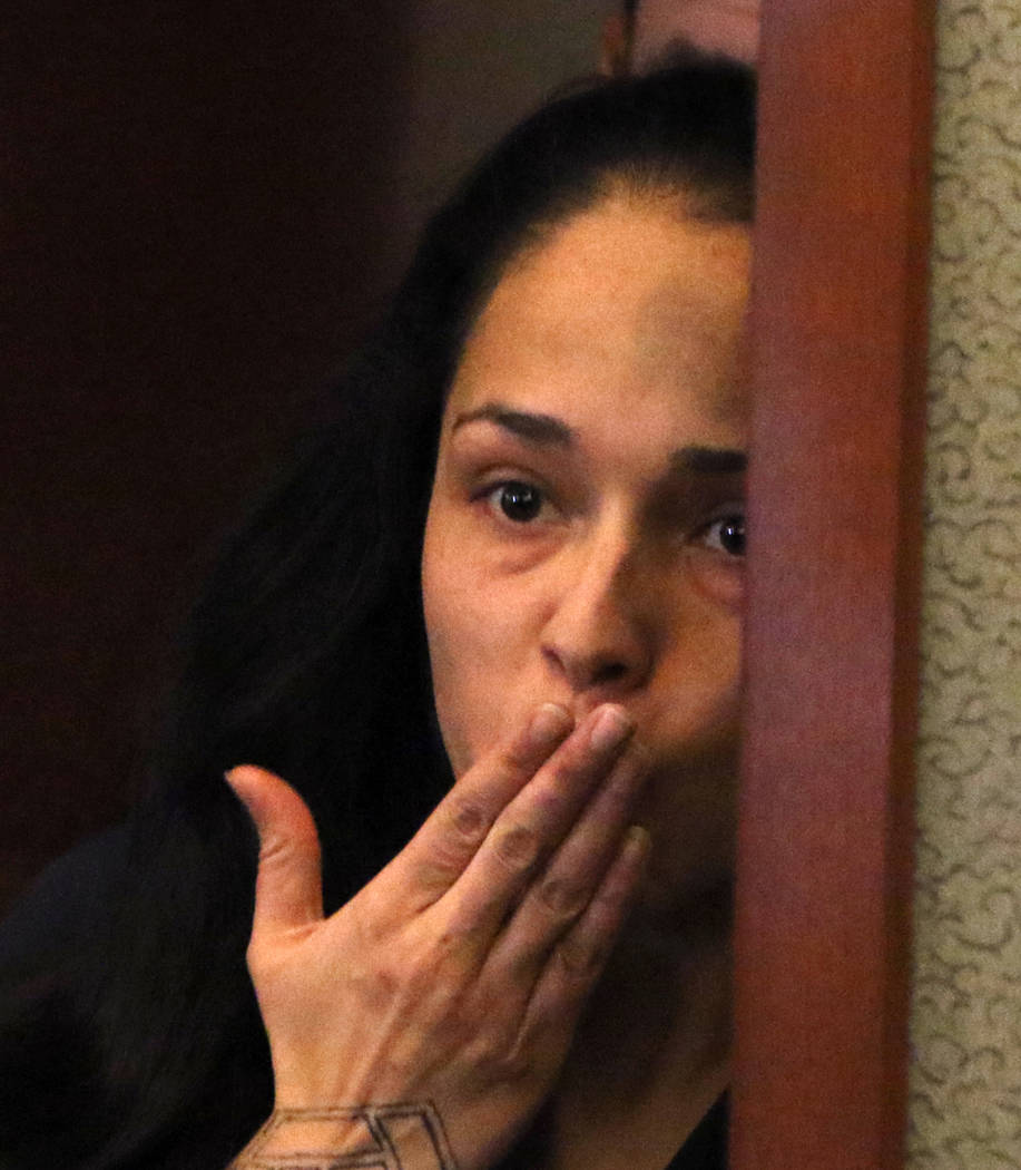 Grissela Gonzaga, who's accused of killing her ex-girlfriend's new boyfriend, blows kiss to her ...