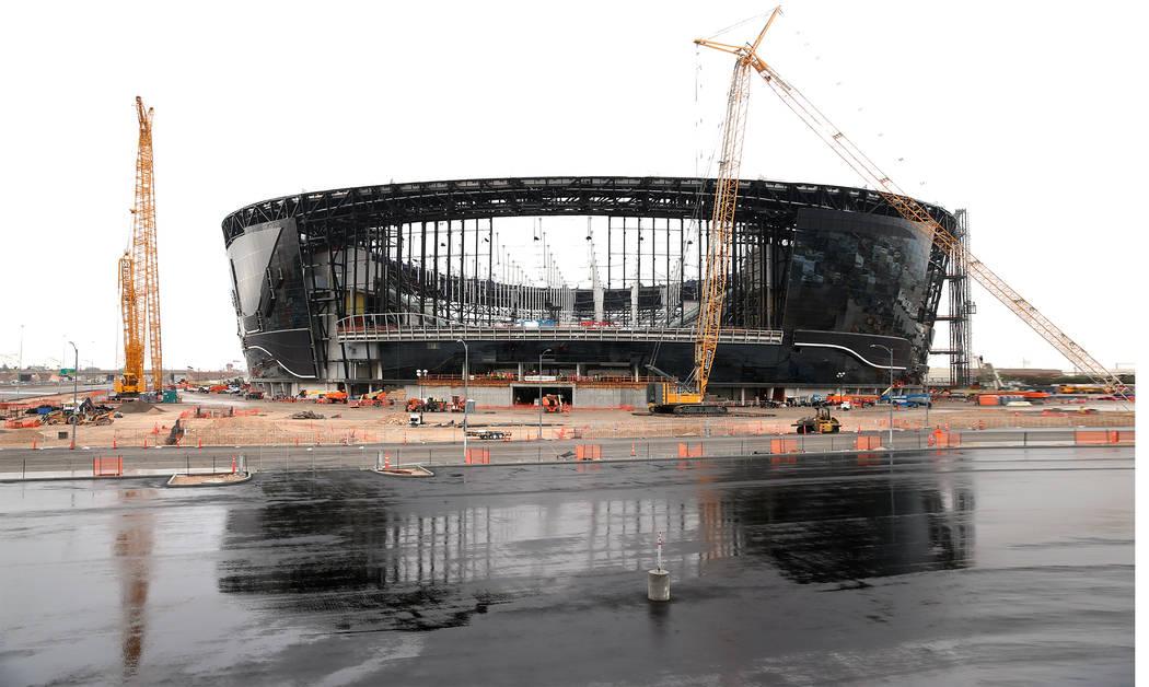 The Raiders Allegiant Stadium in Las Vegas, Wednesday, Nov. 20, 2019. (Erik Verduzco / Las Vega ...