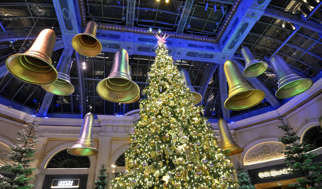 Bells surround a 42-foot-tall Shasta White Fir tree that is part of the 2011 Winter Holiday Exh ...