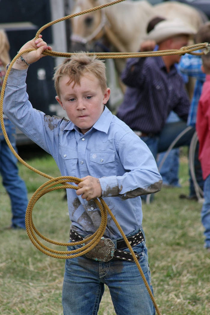 Max Henderson competes in dummy roping event on Aug. 3, 2019. Max died practicing roping in Sep ...