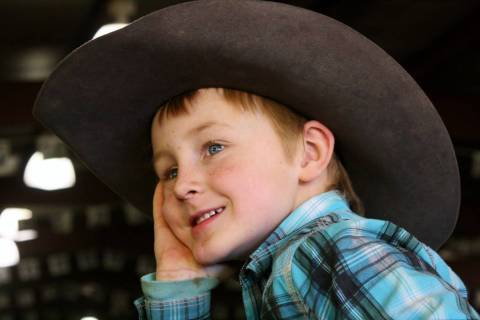 Max Henderson on Nov. 19, 2017. Max died practicing roping in September at the age of 7, prompt ...
