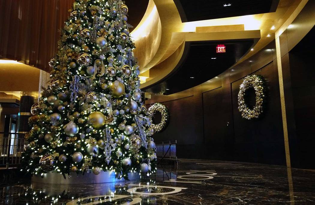 Red Rock Resort's two-story tall tree. (Courtesy, Red Rock Resorts)