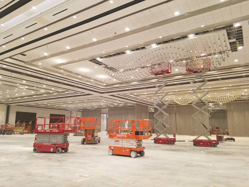 The massive summer-themed pillarless ballroom at Caesars Forum, Monday, Nov. 18, 2019. (Richard ...