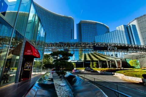 Exterior of Aria on Monday, Nov. 11, 2019, in Las Vegas. (L.E. Baskow/Las Vegas Review-Journal) ...