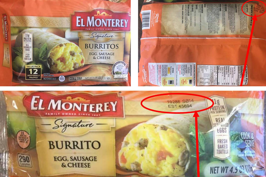 Ruiz Food Products Inc. of Florence, S.C., is recalling 55,013 pounds of frozen, not ready-to-e ...
