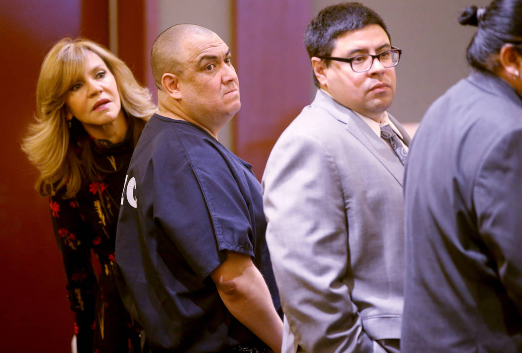 Jaime Zuniga waits for his sentencing in the courtroom at the Regional Justice Center in Las Ve ...