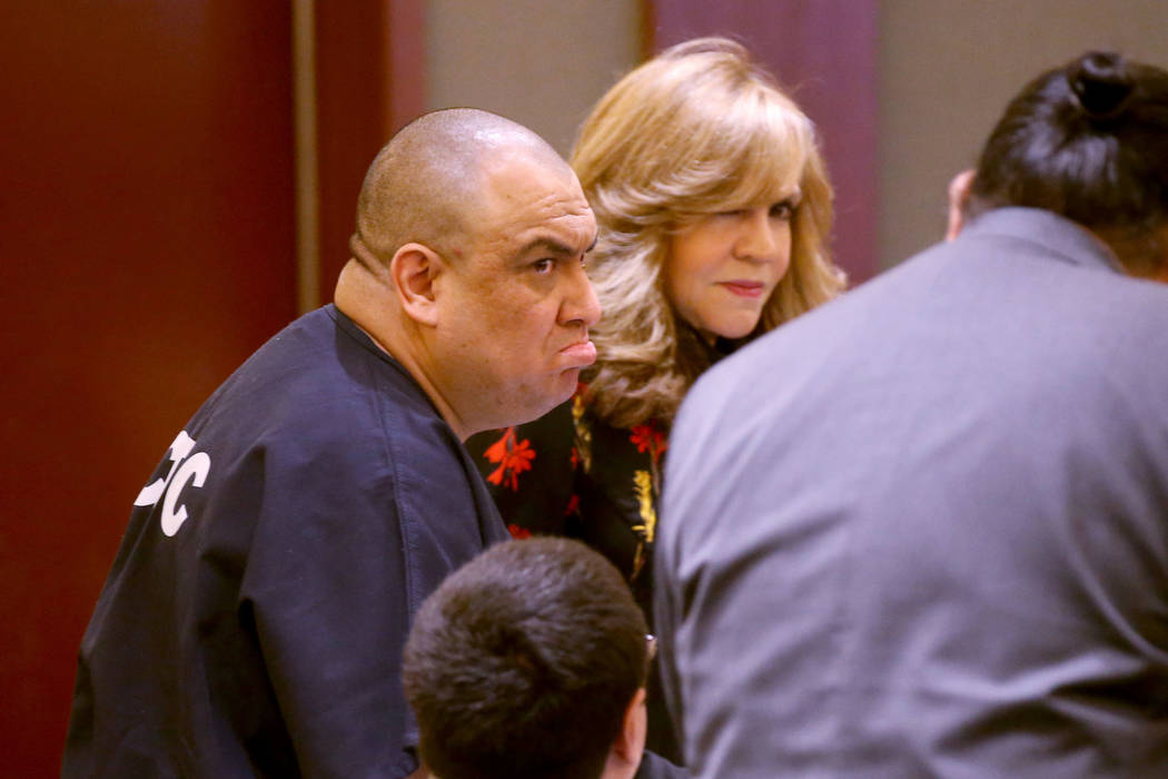 Jaime Zuniga reacts to his sentencing in the courtroom at the Regional Justice Center in Las Ve ...
