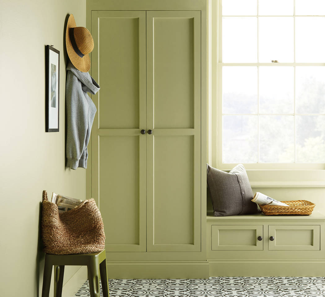 Behr This sage green hue called Back to Nature was chosen by Behr as its color of the year.