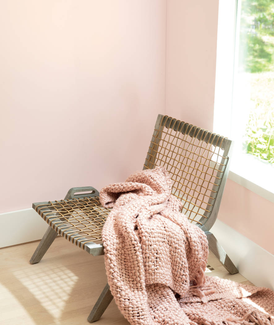 Benjamin Moore First Light, a rosy shade, was chosen by Benjamin Moore as its color of the year ...