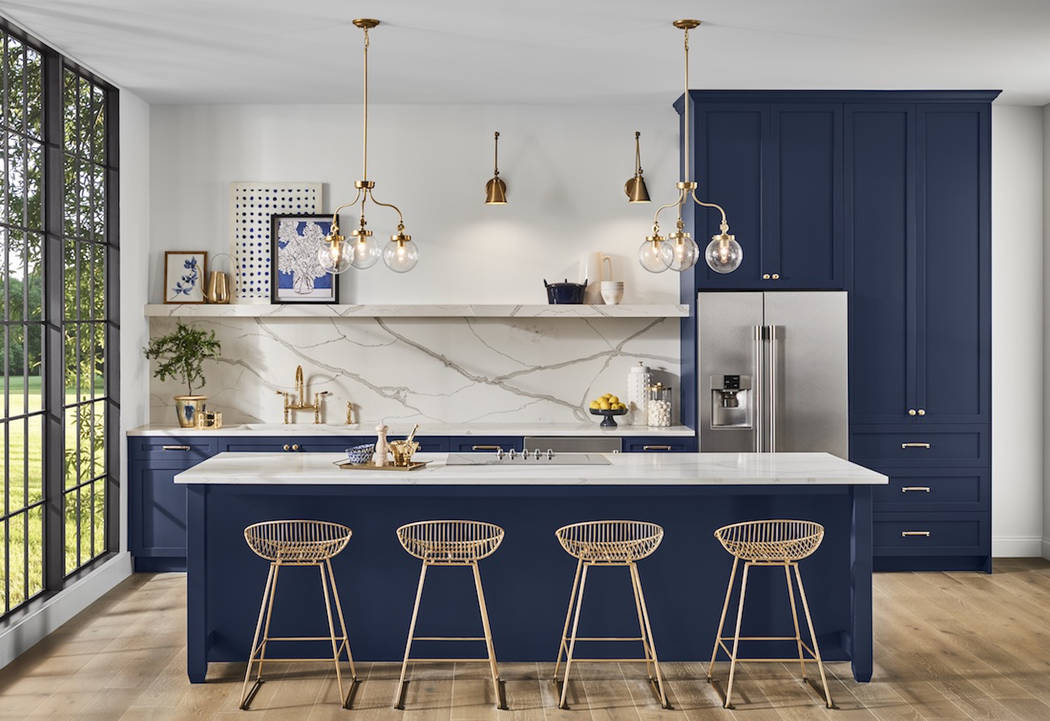 Sherwin-Williams Paint manufacturer Sherwin-Williams has selected a dark blue hue called Naval ...