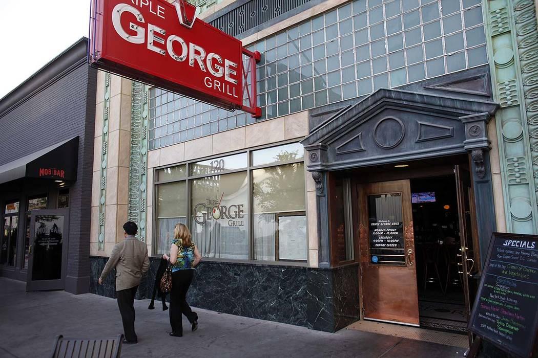 Triple George Grill in downtown Las Vegas. (John Locher/Las Vegas Review-Journal)