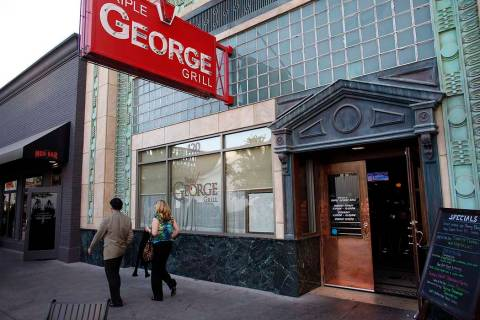 Triple George Grill in downtown Las Vegas. (John Locher/Las Vegas Review-Journal)
