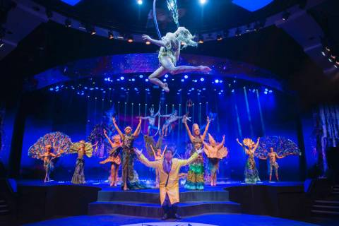 "A scene from ""Wow"" is shown at the Rio. The show celebrated its 1,000th performance on Tuesday, ..."