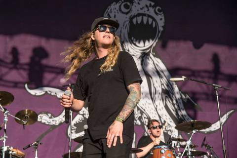 Dustin Bushnell of the Dirty Heads performs at BottleRock Napa Valley Music Festival at Napa Va ...