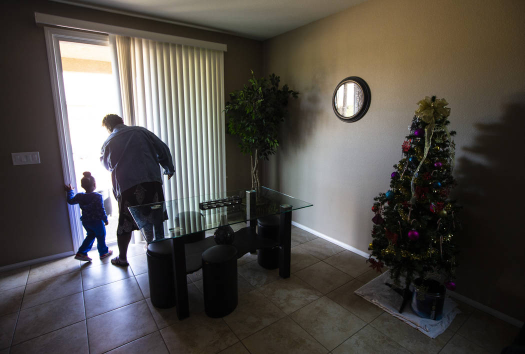 Christine Modica, 3, with her great-aunt, Lucille McKnight, at their home in Las Vegas on Wedne ...