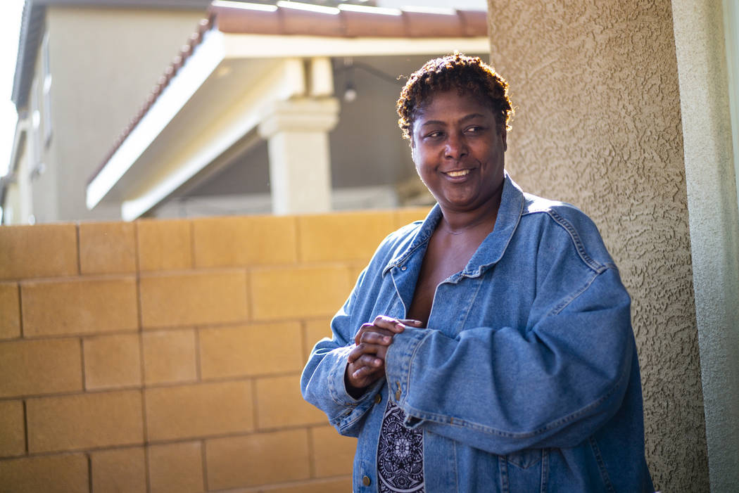 Lucille McKnight stands outside her home in Las Vegas on Wednesday, Dec. 11, 2019. McKnight was ...