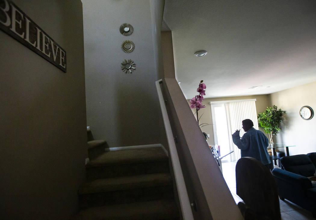 Lucille McKnight walks through her home in Las Vegas on Wednesday, Dec. 11, 2019. McKnight was ...