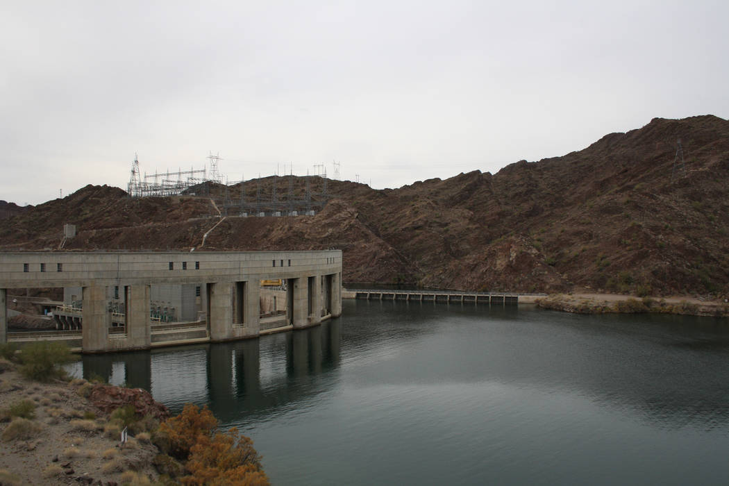 Parker Dam was completed in 1938 and backed up waters creating the 45-mile-long Lake Havasu. (D ...