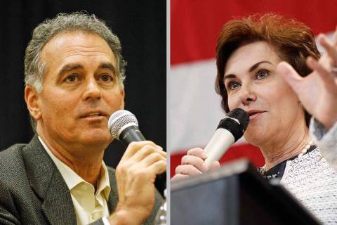Danny Tarkanian and Jacky Rosen (Las Vegas Review-Journal)
