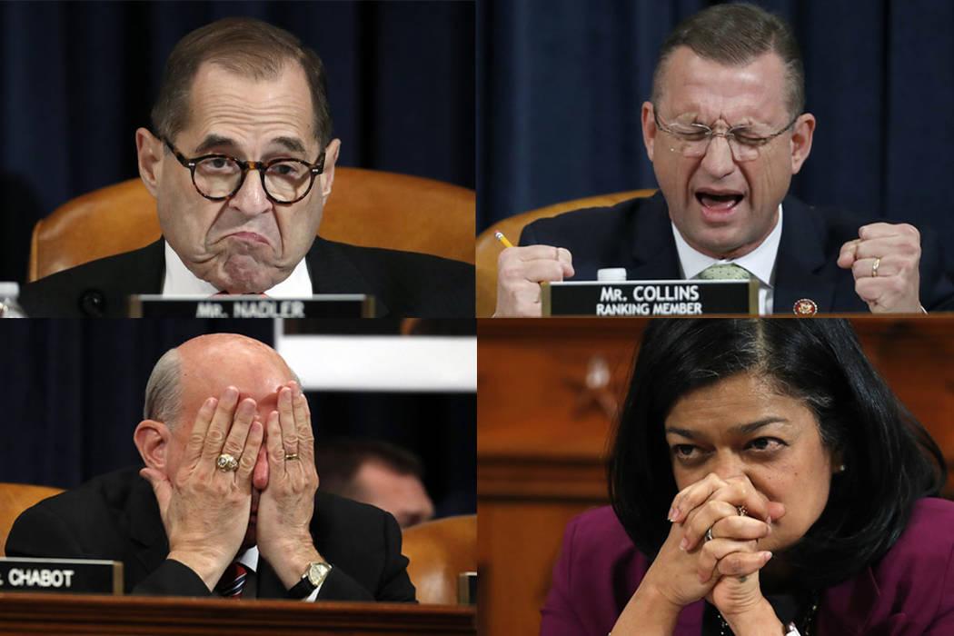 House Judiciary Committee Chairman Rep. Jerrold Nadler, D-N.Y., top left, House Judiciary Commi ...