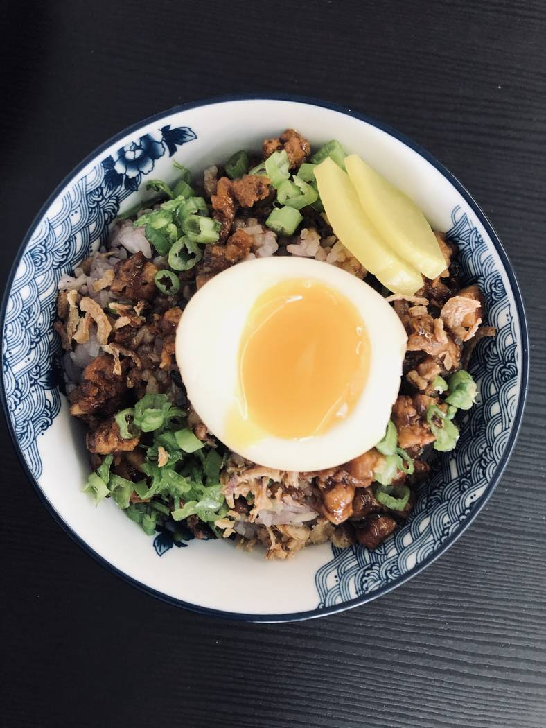 Minced pork rice at Every Grain (Al Mancini/Las Vegas Review-Journal)