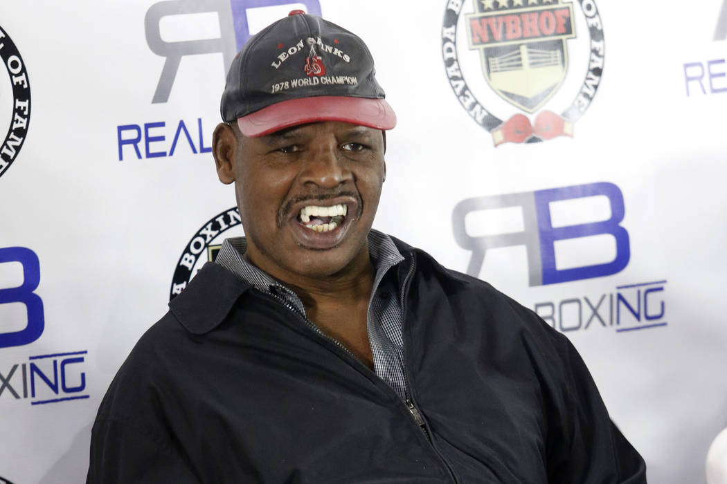 Leon Spinks pose for a picture during a news conference where he was inducted into the 2017 Nev ...