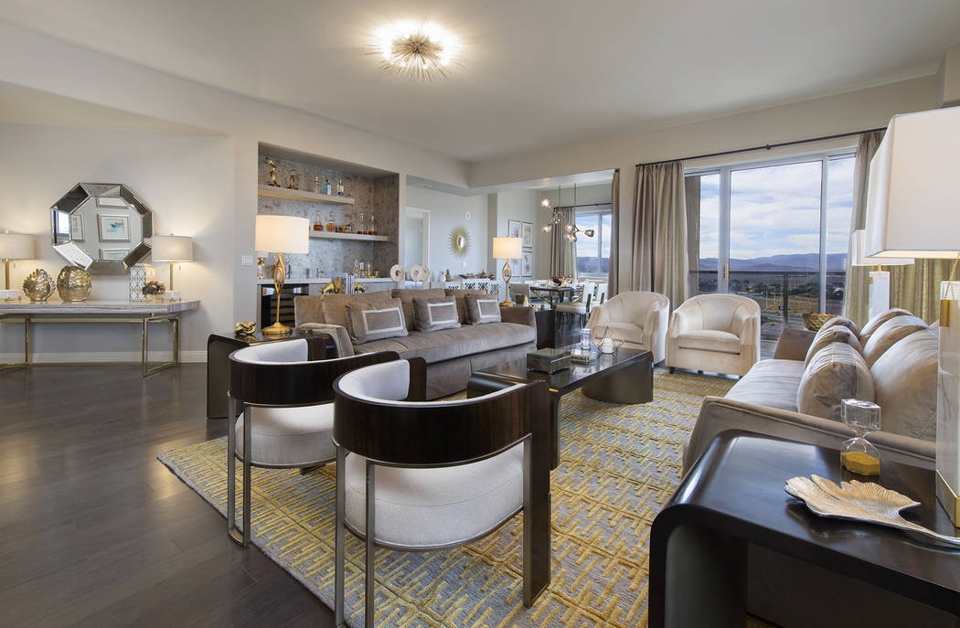 This penthouse, No. 1922, at One Las Vegas, is one of two of the highest-priced condominiums, r ...
