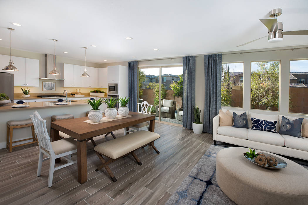Summerlin offers several home options. Affinity by William Lyon Homes is a town home and condo ...