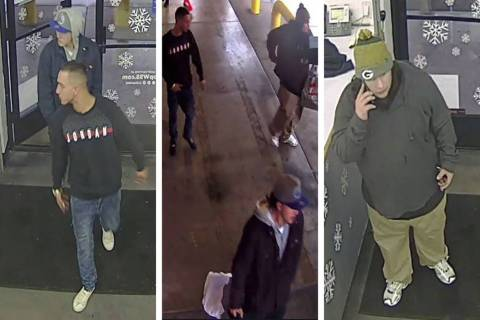 Police are searching for these men in connection to a grand larceny investigation on Thursday, ...