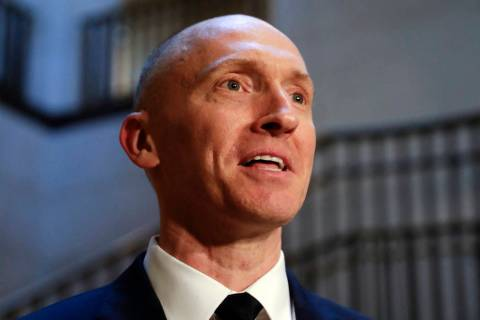 Carter Page, a foreign policy adviser to Donald Trump's 2016 presidential campaign, speaks with ...