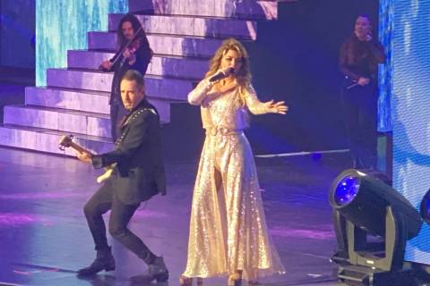 "Shania Twain performs her ""Let's Go"" residency at Zappos Theater on Saturday, Dec. 7, 2019. (Jo ..."