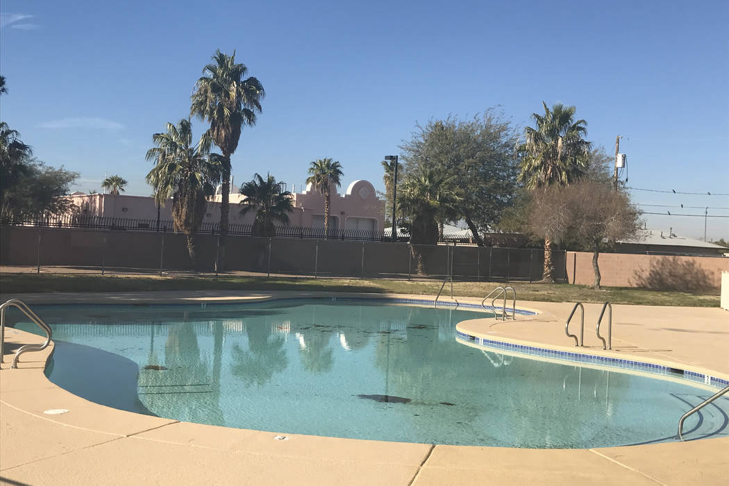 Whitney Neighborhood Pool is pictured Dec. 13 in southeast Las Vegas. Clark County plans to bui ...