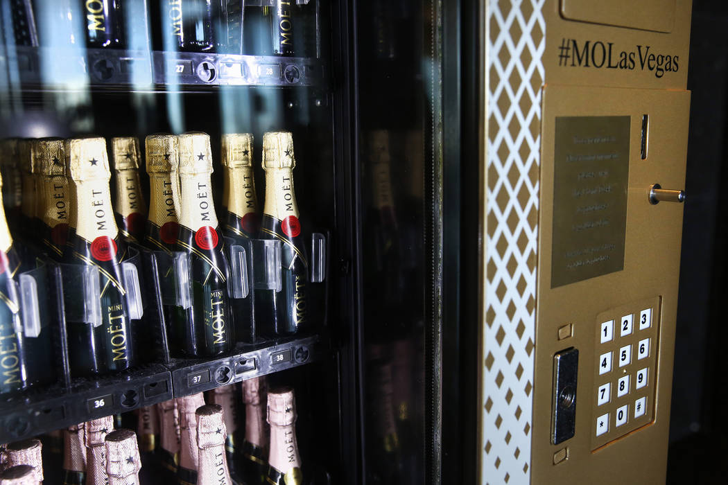 Moët & Chandon champagne vending machine on the 23rd floor of the Waldorf Astoria on Dec. 7, 2 ...