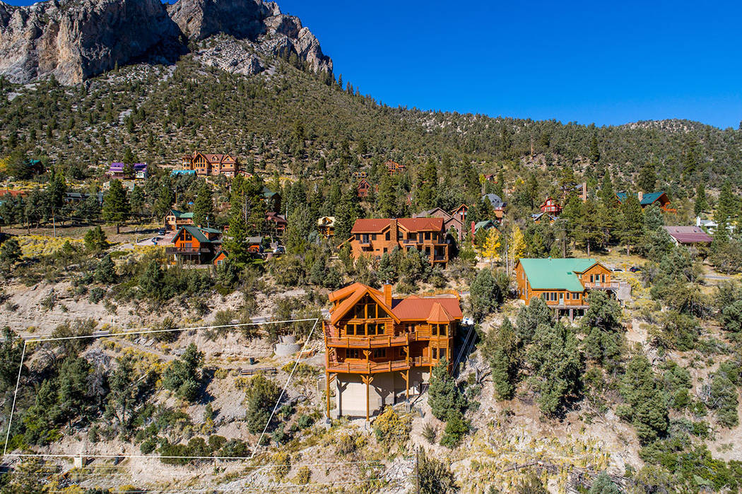 The Mountain Charleston home has views Cathedral Peak. (Berkshire Hathaway Home Services)