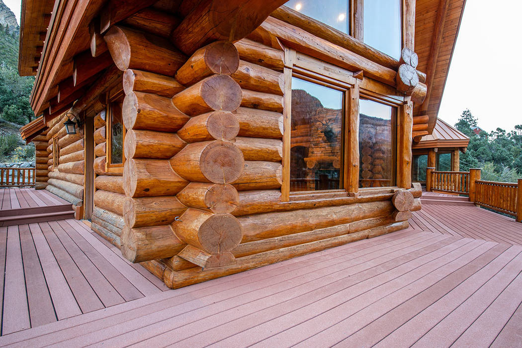 Berkshire Hathaway Home Services This Mount Charleston Douglas Fir log home is listed for $1.75 ...