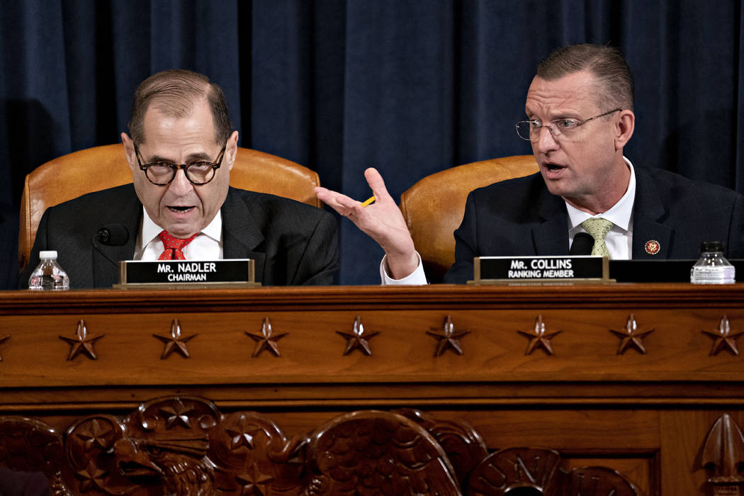 House Judiciary Committee Chairman Rep. Jerrold Nadler, D-N.Y., left, and ranking member Rep. D ...