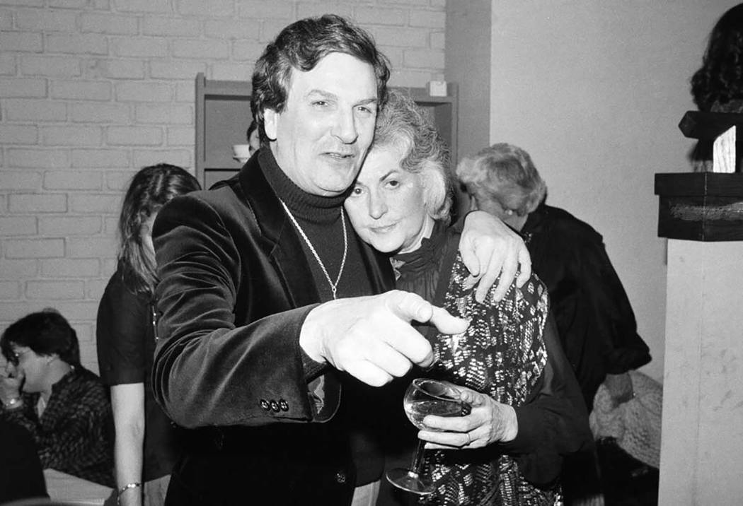 In an April 28, 1981, file photo, Actor Danny Aiello hugs actress Beatrice Arthur at a party fo ...
