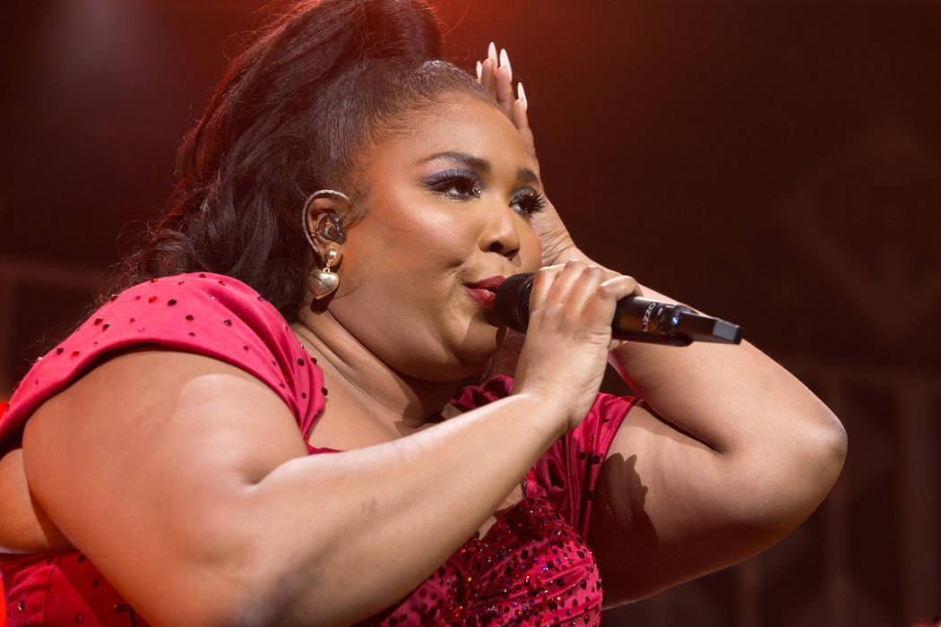 Lizzo performs in concert during Q102's iHeartRadio Jingle Ball 2019 at the Wells Fargo Center ...