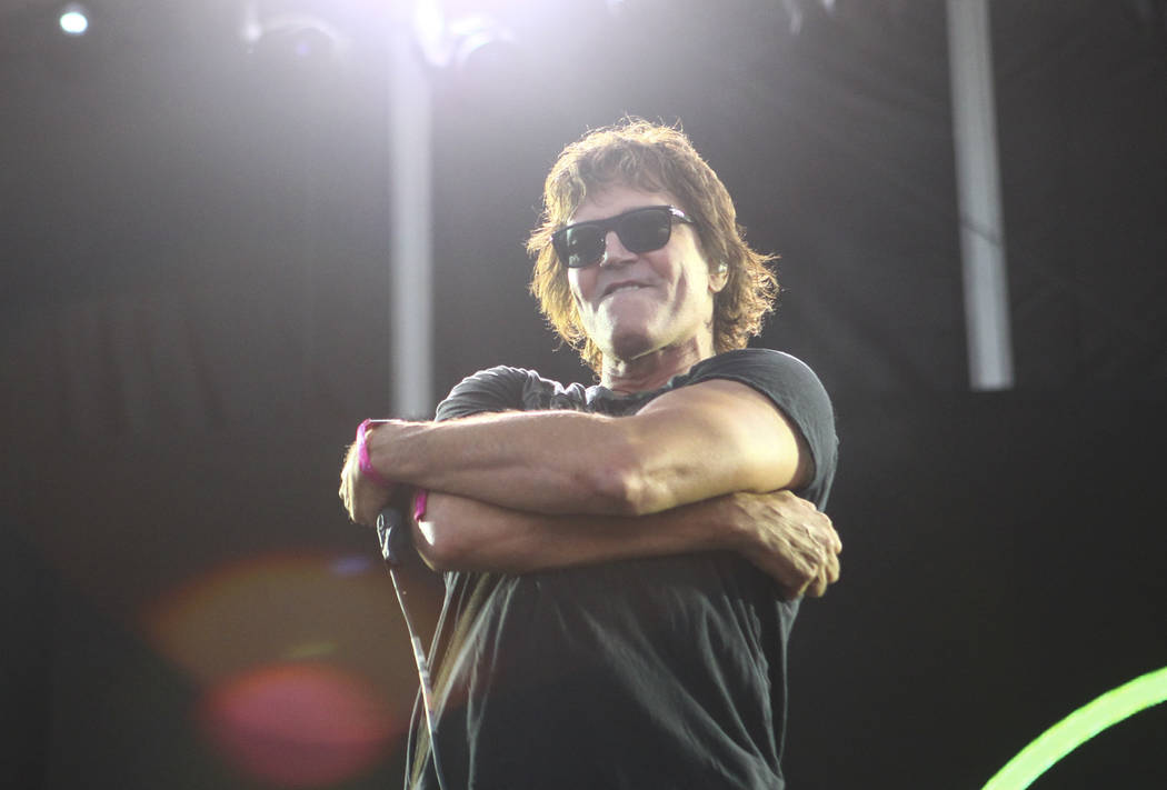 Stephan Jenkins of Third Eye Blind performs during the Life is Beautiful music and arts festiva ...