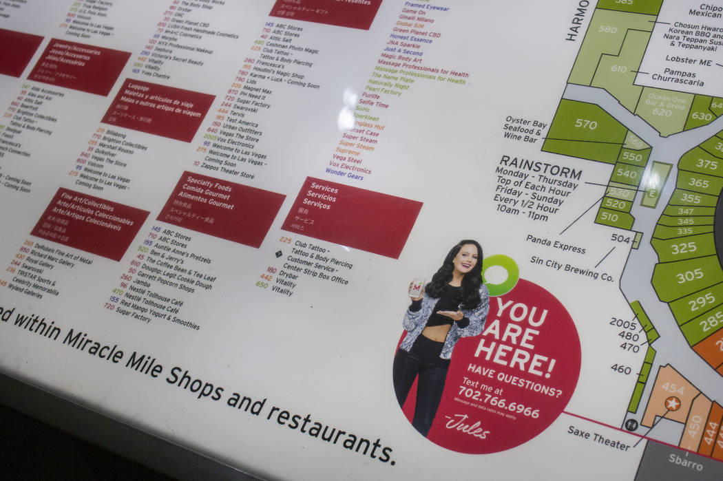 A directory of all dining and shopping establishments in the Miracle Mile Shops on the Las Vega ...