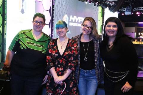Gamers Thean Arana, Stephanie Shero, 1,000 Dreams Fund Founder and CEO Christie Garton and game ...