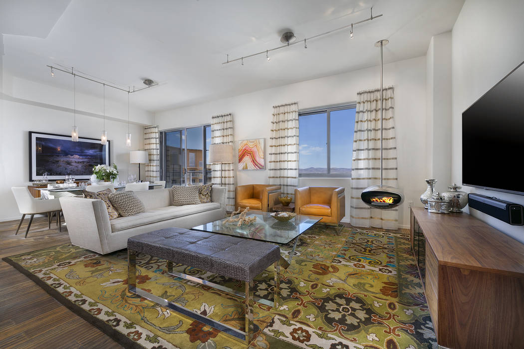 Residence No. 2004 features spacious open floor plan and gorgeous views. (One Las Vegas)