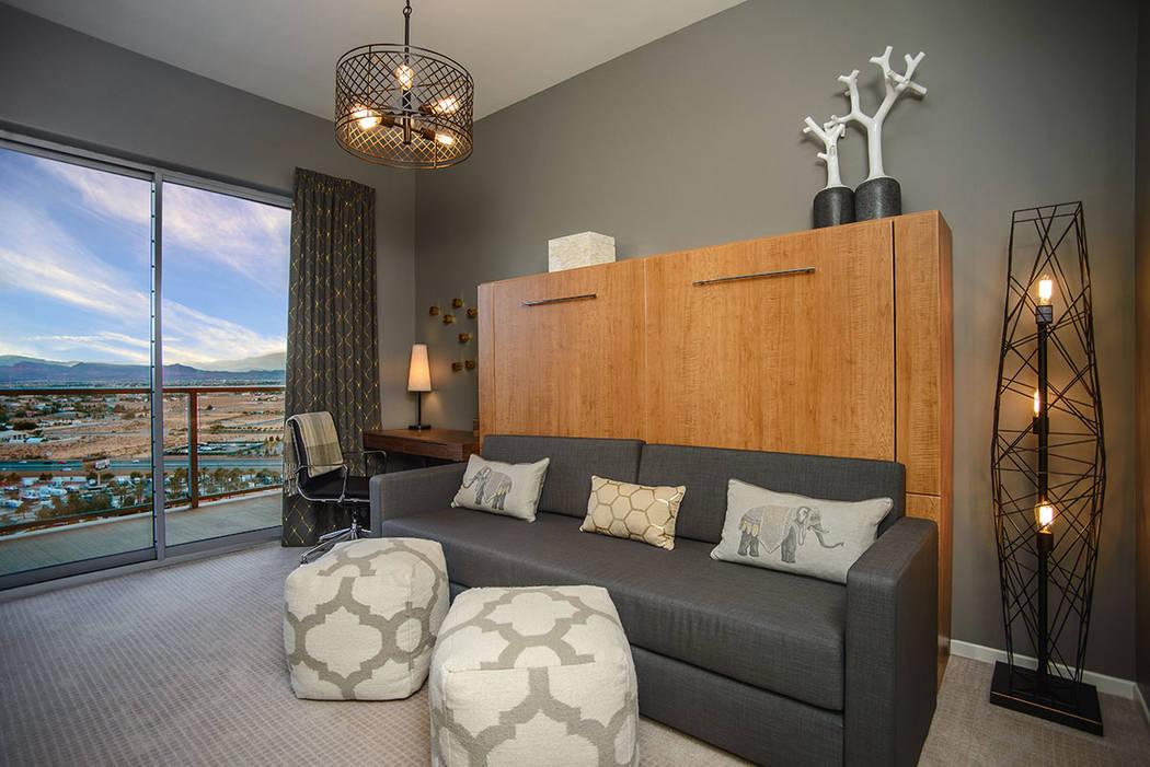 The 20th floor condo has the views. (One Las Vegas)