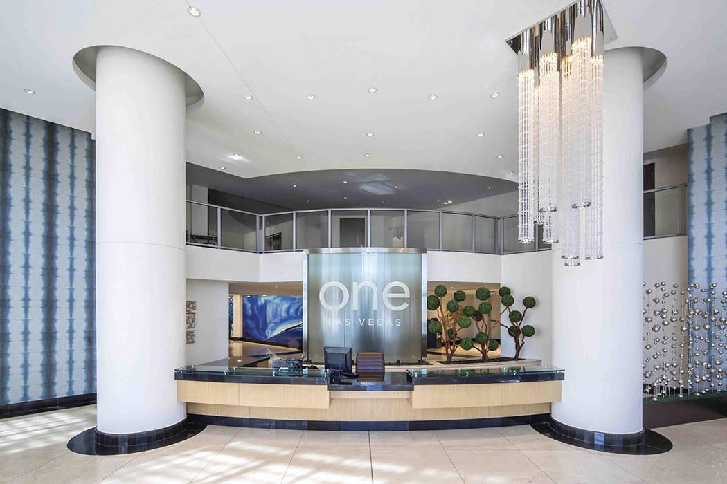 One Las Vegas' lobby offers luxury. (One Las Vegas)