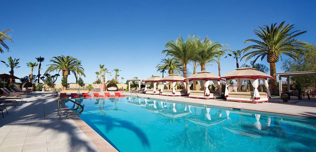 The pool and cabanas are part of the resort lifestyle. (One Las Vegas)