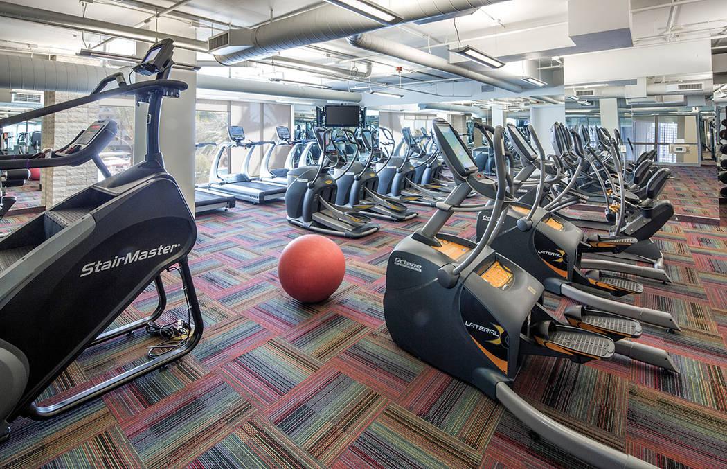 One Las Vegas features a fitness center. (One Las Vegas)