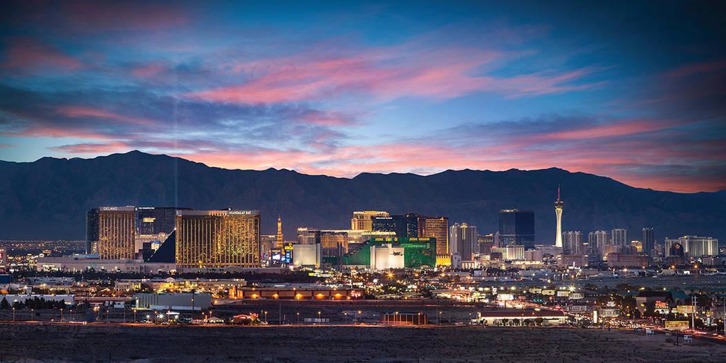 The condo has sweeping views of the Strip. (One Las Vegas)